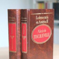 Libros de segunda mano: ALEXIS DE TOCQUEVILLE - LA DEMOCRACIA EN AMÉRICA. 2 TOMOS - SARPE. Lote 144138978