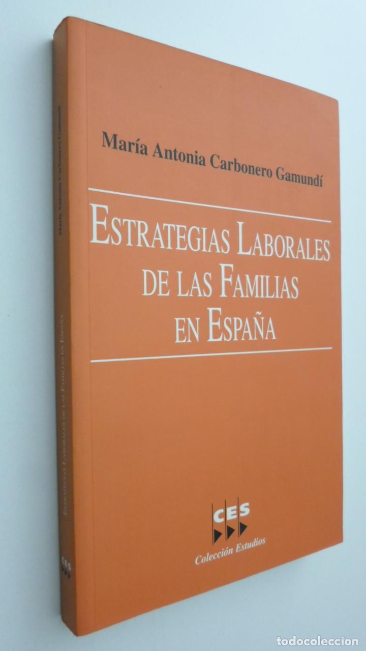 ESTRATEGIAS LABORALES DE LAS FAMILIAS EN ESPAÑA - CARBONERO GAMUNDÍ, MARIA ANTÒNIA (Libros de Segunda Mano - Pensamiento - Sociología)