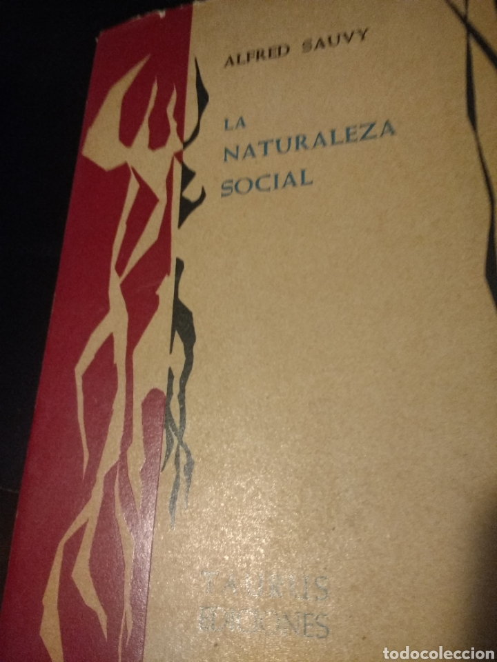 LA NATURALEZA SOCIAL. ALFRED SAUVY. TAURUS EDICIONES. PRIMERA EDICIÓN MAYO 1962. COLECCIÓN CIENCIA Y (Libros de Segunda Mano - Pensamiento - Sociología)