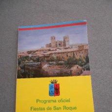 Libros de segunda mano: PROGRAMA OFICIAL FIESTAS DE SAN ROQUE. SIGUENZA 1989. Lote 148467970