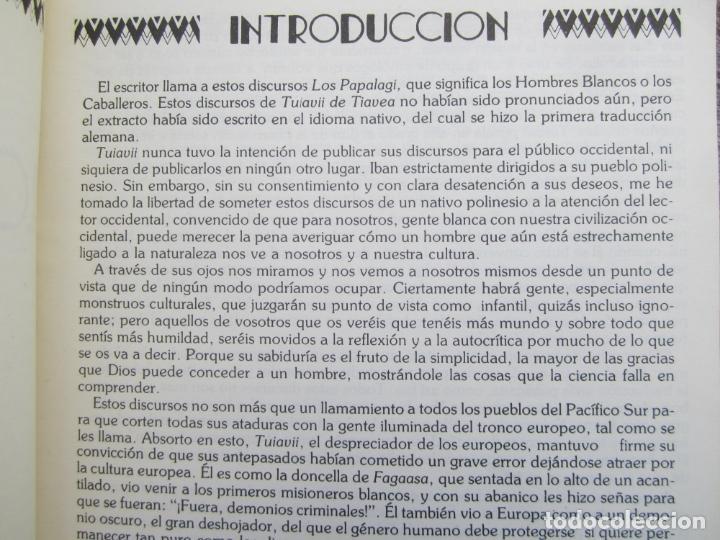 Libros de segunda mano: LOS PAPALAGI , discursos de TUIAVII DE TIAVEA jefe samoano , editado por integral - Foto 4 - 149571806