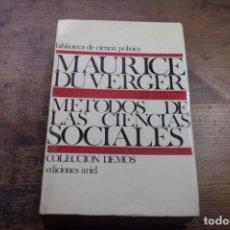 Gebrauchte Bücher - Metodos de las ciencias sociales, Maurece Duverger, Ariel, 1971 - 151941474