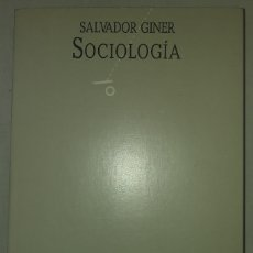 Libros de segunda mano: SOCIOLOGIA. SALVADOR GINER. EDITORIAL NEXOS. Lote 153615462