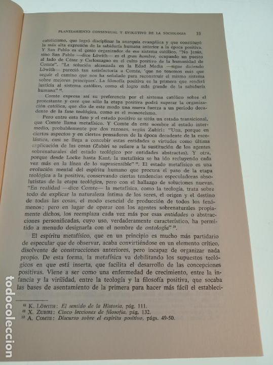 Libros de segunda mano: LA SOCIOLOGÍA AVENTURA DIALÉCTICA - LUIS GONZALEZ SEARA - EDITORIAL TECNOS - FIRMADO Y DEDICADO 1971 - Foto 7 - 153823674