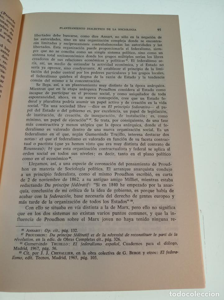 Libros de segunda mano: LA SOCIOLOGÍA AVENTURA DIALÉCTICA - LUIS GONZALEZ SEARA - EDITORIAL TECNOS - FIRMADO Y DEDICADO 1971 - Foto 8 - 153823674