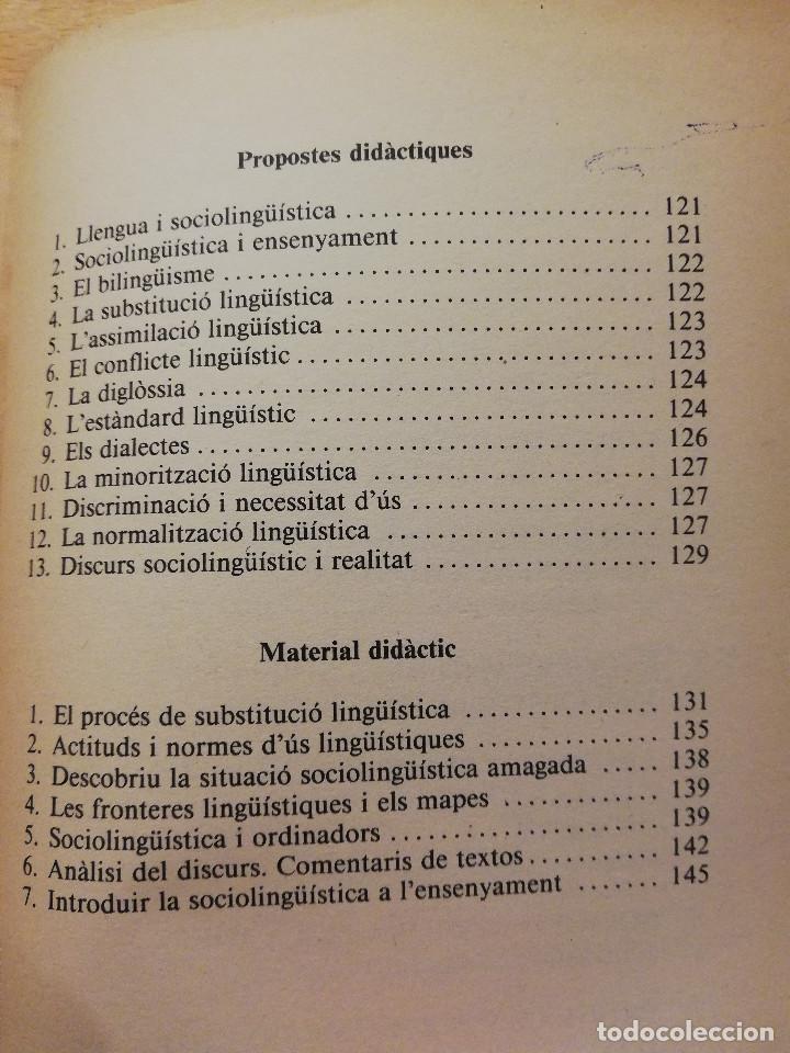 Libros de segunda mano: SOCIOLINGÜÍSTICA PER A JOVES. UNA PERSPECTIVA CATALANA (JORDI SOLÉ I CAMARDONS) - Foto 5 - 154046810