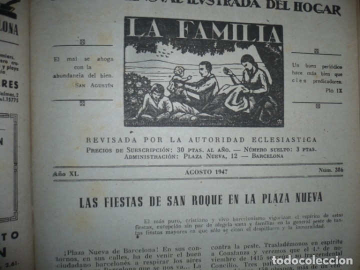 Libros de segunda mano: LA FAMILIA REVISTA MORAL MENSUAL ILUSTRADA DEL HOGAR AÑOS 1947-51-52-53-55-57 BARCELONA - Foto 12 - 154869770