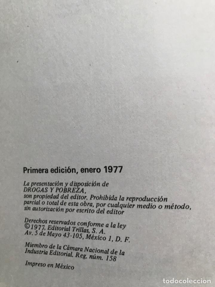 Libros de segunda mano: Drogas y pobreza, María Isabel Chávez de Sánchez, A.A. Solís de Fuentes, G. Pacheco, O. Salinas - Foto 2 - 155838294