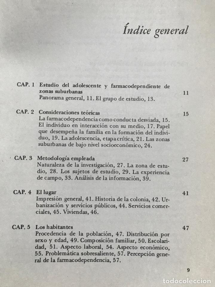 Libros de segunda mano: Drogas y pobreza, María Isabel Chávez de Sánchez, A.A. Solís de Fuentes, G. Pacheco, O. Salinas - Foto 5 - 155838294