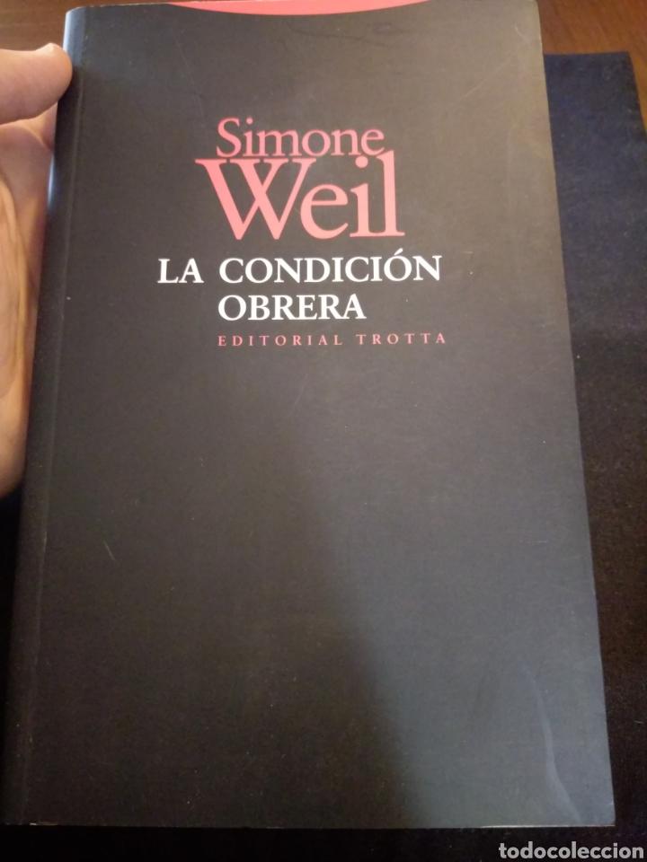 LA CONDICIÓN OBRERA. SIMONE WEIL (Libros de Segunda Mano - Pensamiento - Sociología)