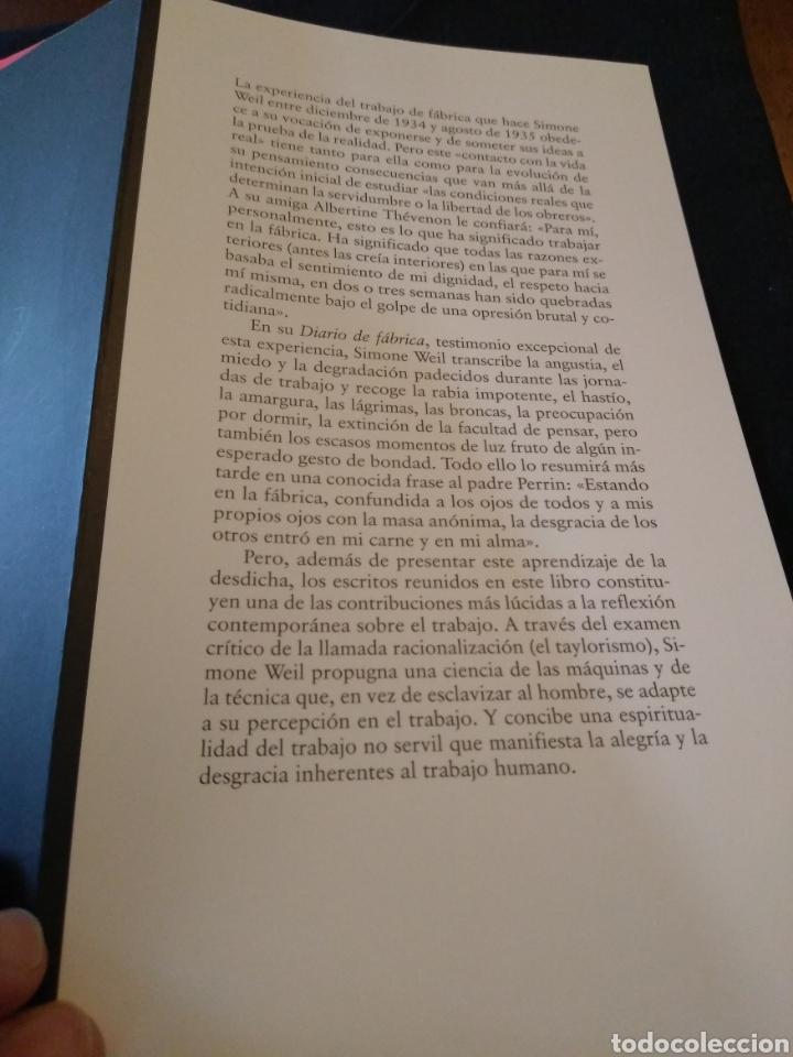 Libros de segunda mano: La condición obrera. Simone Weil - Foto 2 - 155896144