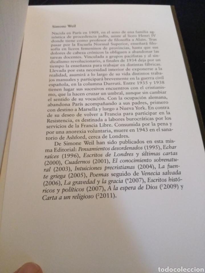 Libros de segunda mano: La condición obrera. Simone Weil - Foto 3 - 155896144