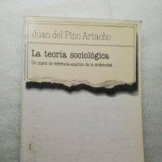 Libros de segunda mano: PINO ARTACHO - JUAN DEL. - LA TEORIA SOCIOLOGICA. UN MARCO DE REFERENCIA ANALITICO DE LA MODERNIDAD. Lote 155974562