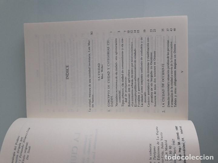 Libros de segunda mano: LA CIUDAD - MAX WEBER - Genealogía del Poder Nº 14 - La Piqueta - 1987 - Foto 5 - 156872430