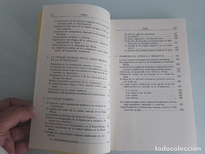 Libros de segunda mano: LA CIUDAD - MAX WEBER - Genealogía del Poder Nº 14 - La Piqueta - 1987 - Foto 6 - 156872430