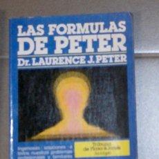 Libros de segunda mano: LAS FÓRMULAS DE PETER DR. LAURENCE J. PETER. Lote 157273426