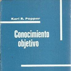 Libros de segunda mano: CONOCIMIENTO OBJETIVO JKARL R POPPER EDITORIAL TECNOS MADRID. Lote 157311198