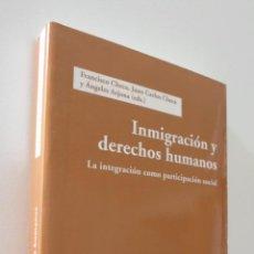Libros de segunda mano: INMIGRACIÓN Y DERECHOS HUMANOS: LA INTEGRACIÓN COMO PARTICIPACIÓN SOCIAL - ICARIA EDITORIAL. Lote 157672360