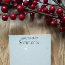 Libros de segunda mano: SALVADOR GINER. SOCIOLOGÍA.. Lote 160426226