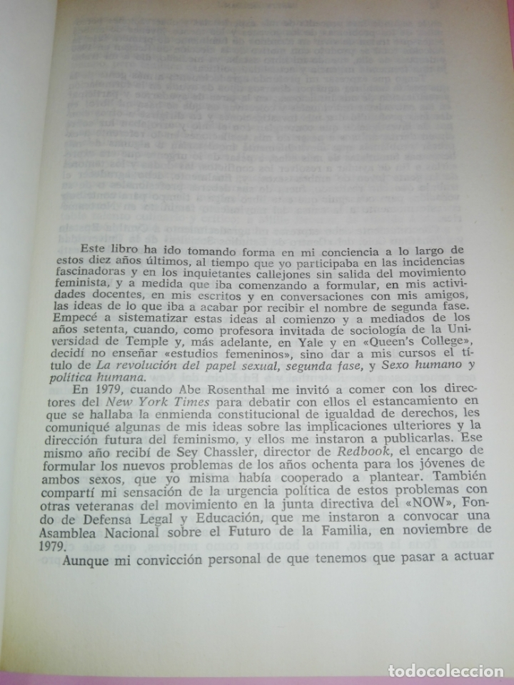 Libros de segunda mano: LIBRO-LA SEGUNDA FASE-BETTY FRIEDAN.PLAZA & JANÉS-1ªEDICIÓN-MARZO 1983-EXCELENTE ESTADO-VER FOTOS - Foto 9 - 165124950
