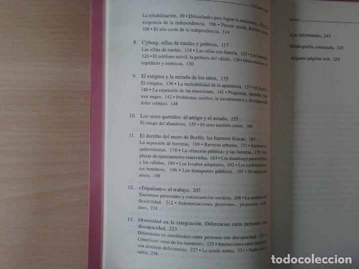 Libros de segunda mano: DISCAPACITADOS: LA REIVINDICACIÓN DE LA IGUALDAD EN LA DIFERENCIA - MARTA ALLUE - Foto 3 - 165729590