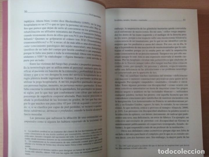 Libros de segunda mano: DISCAPACITADOS: LA REIVINDICACIÓN DE LA IGUALDAD EN LA DIFERENCIA - MARTA ALLUE - Foto 5 - 165729590