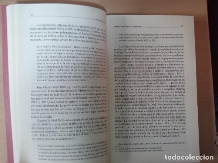 Libros de segunda mano: DISCAPACITADOS: LA REIVINDICACIÓN DE LA IGUALDAD EN LA DIFERENCIA - MARTA ALLUE - Foto 6 - 165729590