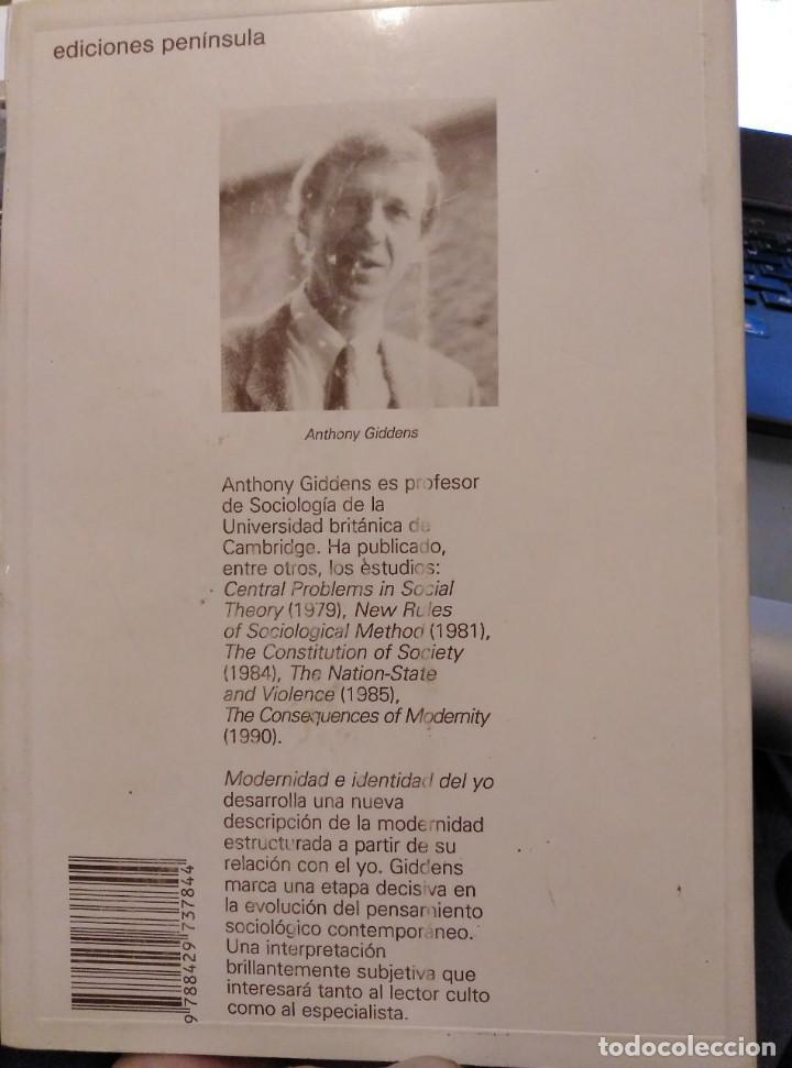 Libros de segunda mano: MODERNIDAD E IDENTIDAD DEL YO. ANTHONY GIDDENS - Foto 2 - 167047656