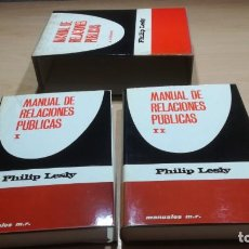 Libros de segunda mano: MANUAL DE RELACIONES PUBLICAS/ PHILIP LESLY/ 2 VOLUMENES/ MARTINEZ ROCA/ F604. Lote 167550412