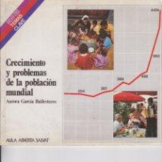Libros de segunda mano: CRECIMIENTO Y PROBLEMAS DE LA POBLACIÓN MUNDIAL. PEDIDO MÍNIMO EN LIBROS: 4 TÍTULOS. Lote 167600796