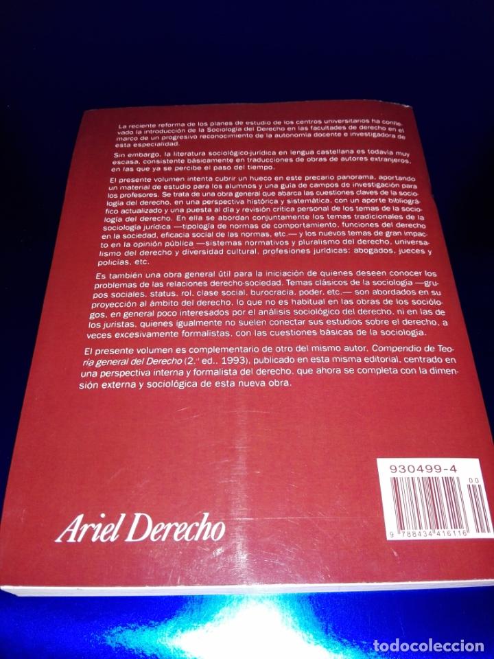 Libros de segunda mano: libro-sociología del derecho-ramón soriano-EDITORIAL ARIEL-2011-excelente estado-ver fotos - Foto 4 - 176327850