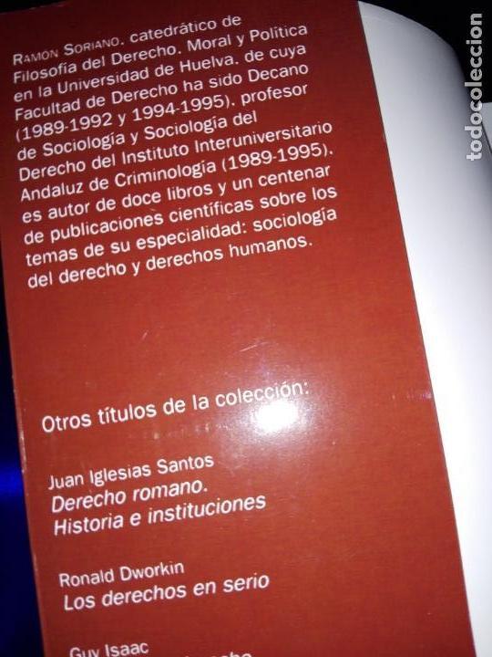 Libros de segunda mano: libro-sociología del derecho-ramón soriano-EDITORIAL ARIEL-2011-excelente estado-ver fotos - Foto 6 - 176327850