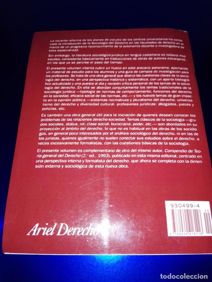 Libros de segunda mano: libro-sociología del derecho-ramón soriano-EDITORIAL ARIEL-2011-excelente estado-ver fotos - Foto 8 - 176327850