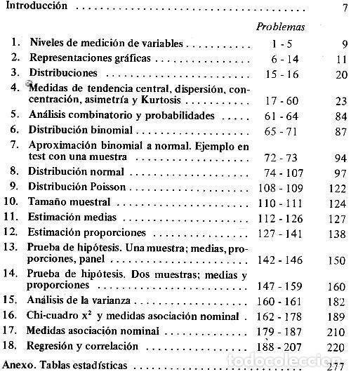 Libros de segunda mano: ESTADISTICA EN INVESTIGACION SOCIAL. EJERCICIOS RESUELTOS. JOSE MATEO RIVAS. PARANINFO. SOCIOLOGIA. - Foto 5 - 169377000