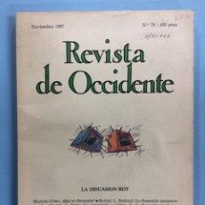 Libros de segunda mano: REVISTA DE OCCIDENTE - LA DISUASIÓN HOY - 1987. Lote 169643306