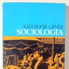 Libros de segunda mano: GINER, SALVADOR - SOCIOLOGÍA - BARCELONA 1969 - 1ª EDICIÓN. Lote 170044828