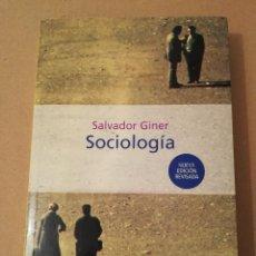 Libros de segunda mano: SOCIOLOGÍA (SALVADOR GINER) EDICIONES PENÍNSULA. Lote 170224752