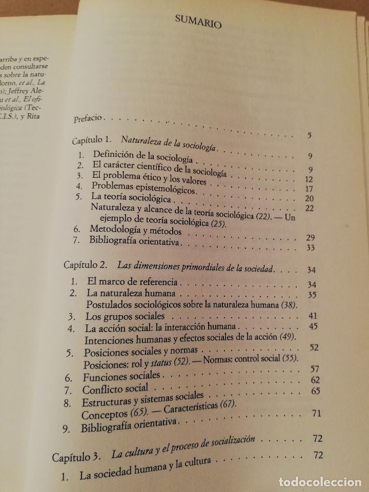 Libros de segunda mano: SOCIOLOGÍA (SALVADOR GINER) EDICIONES PENÍNSULA - Foto 3 - 170224752