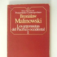 Libros de segunda mano: LOS ARGONAUTAS DEL PACIFICO OCCIDENTAL I - BRONISLAW MALINOWSKI. Lote 171384378