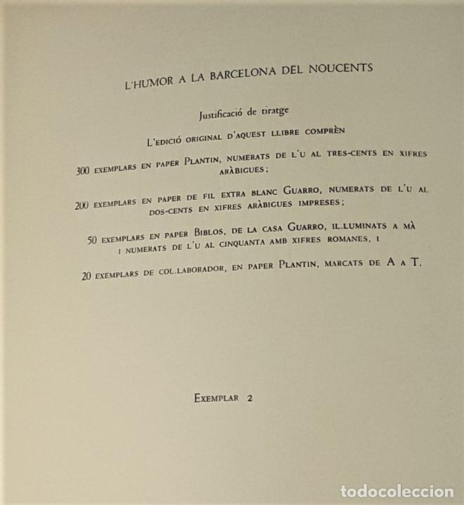 Libros de segunda mano: LHUMOR A LA BARCELONA DEL NOUCENTS. EJEM. Nº 2. EDIT. AYMÀ. BARCELONA. 1949. - Foto 6 - 171411230