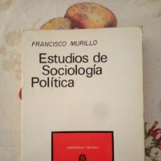 Libros de segunda mano: ESTUDIOS DE SOCIOLOGÍA POLÍTICA. FRANCISCO MURILLO. TECNOS 1972. 214PGS. Lote 171502890