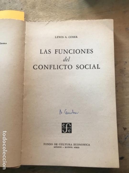 Libros de segunda mano: LAS FUNCIONES DEL CONFLICTO SOCIAL. LEWIS A. COSER. - Foto 2 - 171491460