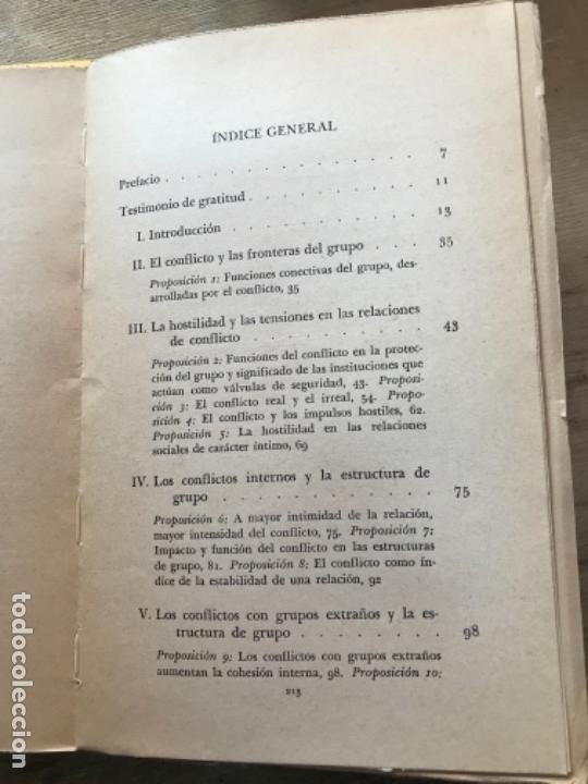 Libros de segunda mano: LAS FUNCIONES DEL CONFLICTO SOCIAL. LEWIS A. COSER. - Foto 3 - 171491460