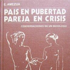 Libros de segunda mano: PAÍS EN PUBERTAD PAREJA EN CRÍSIS - EFIGENIO AMEZÚA. Lote 171638185