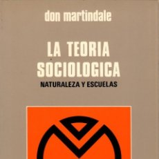 Libros de segunda mano: LA TEORÍA SOCIOLÓGICA. NATURALEZA Y ESCUELAS / DON MARTINDALE. Lote 171653214