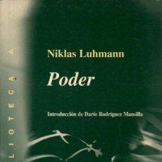 Libros de segunda mano: PODER / NIKLAS LUHMANN. Lote 172071958