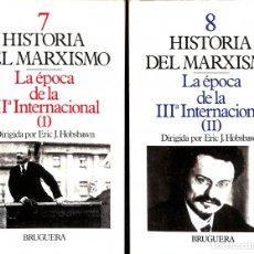 Libros de segunda mano: HISTORIA DEL MARXISMO: TOMO 7 - 8, I-II. ERIC J. HOBSBAWN - BRUGUERA - PENSADORES Y TEMAS DE HOY 21. Lote 172433619