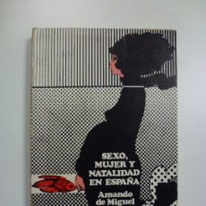 Libros de segunda mano: SEXO, MUJER Y NATALIDAD EN ESPAÑA. AMANDO DE MIGUEL. CUADERNOS PARA EL DIÁLOGO. 1975.. Lote 172676339