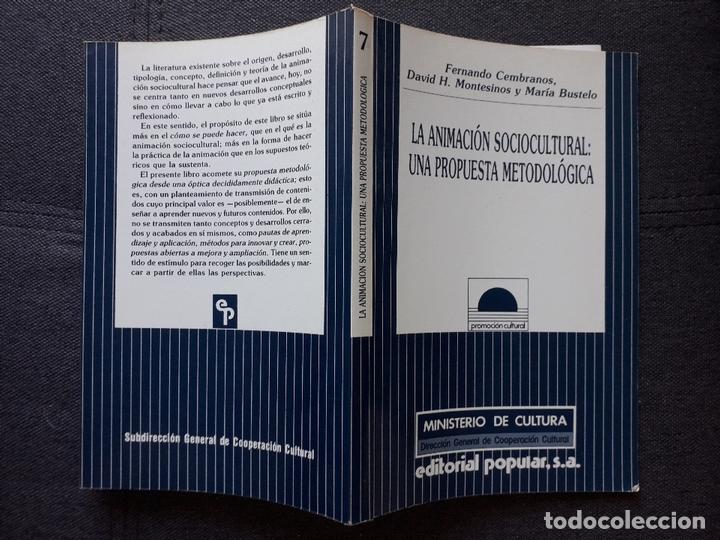 Libros de segunda mano: La Animación Sociocultural: Una Propuesta Metodológica. F. Cembranos, D. Montesinos y M Bustelo. - Foto 7 - 172845442