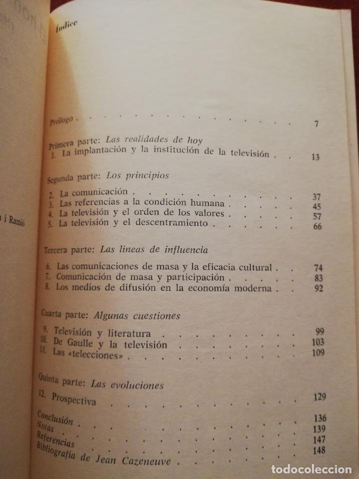 Libros de segunda mano: EL HOMBRE TELESPECTADOR (HOMO TELESPECTATOR) - JEAN CAZENEUVE - EDITORIAL GUSTAVO GILI - Foto 3 - 173208925